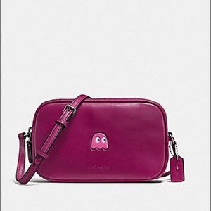 Coach x Pac-Man Maroon Crossbody